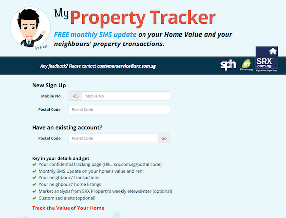 SRX Property Launches Free Information Service – my Property Tracker